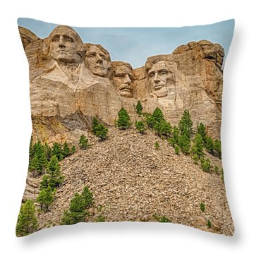 Throw Pillow featuring the photograph Mount Rushmore by Dheeraj Mutha