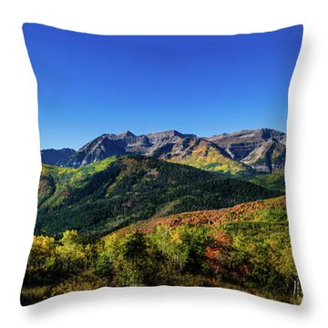 Throw Pillow featuring the photograph Mount Timpanogos by TL Mair
