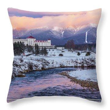 Mt Washington Hotel Throw Pillows Fine Art America