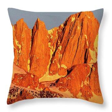Mount Whitney Sunrise Throw Pillow