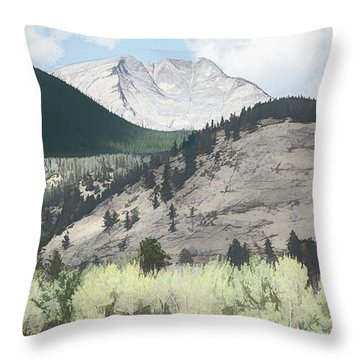 Mount Ypsilon Throw Pillow