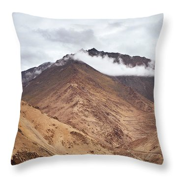 Throw Pillow featuring the photograph Mountain Farming by Whitney Goodey