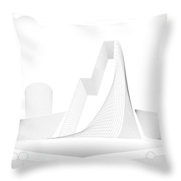 Mountain Gate Throw Pillow