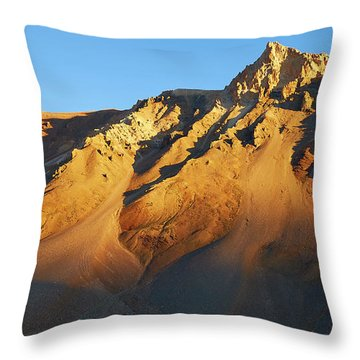 Throw Pillow featuring the photograph Mountain Gold by Whitney Goodey