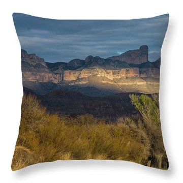 Mountain Illumination Throw Pillow