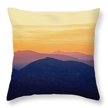 Mountain Light And Silhouette  Throw Pillow