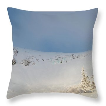 Mountain Light, Tuckerman Ravine Throw Pillow