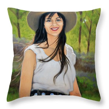Mountain Megan Throw Pillow