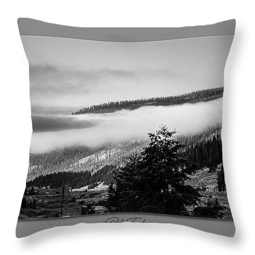 Throw Pillow featuring the photograph Mountain Mist by Pete Federico