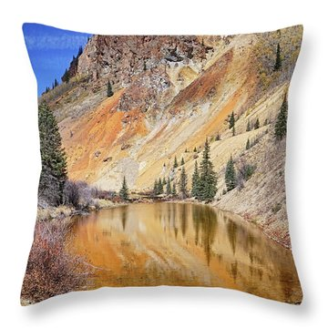 Mountain Reflections Throw Pillow