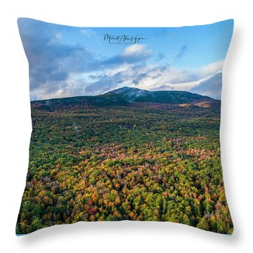 Throw Pillow featuring the photograph Mountain That Stands Alone by Michael Hughes