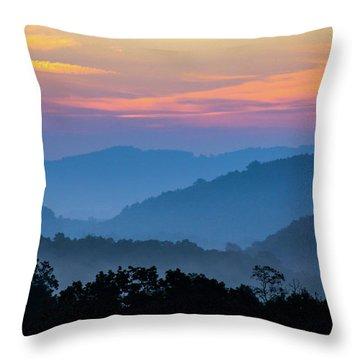 Mountain Tide Throw Pillow