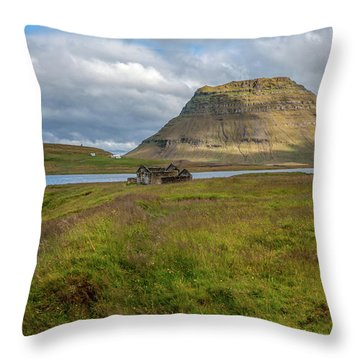 Mountain Top Of Iceland Throw Pillow