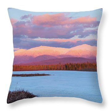 Mountain Views Over Cherry Pond Throw Pillow