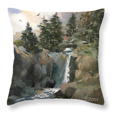 Mountain Waters Throw Pillow