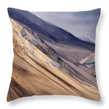 Throw Pillow featuring the photograph Mountainside by Whitney Goodey