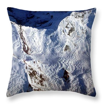 Mountaintop Snow Throw Pillow