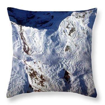 Mountaintop Snow Throw Pillow