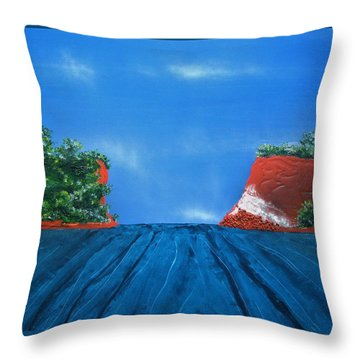 Mouth Of The Hay River Throw Pillow