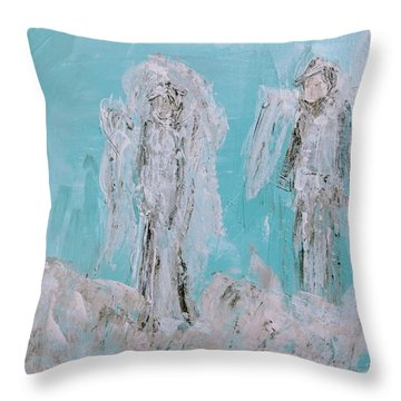 Mr And Mrs Angels Throw Pillow