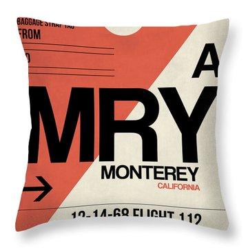 Mry Monterey Luggage Tag I Throw Pillow