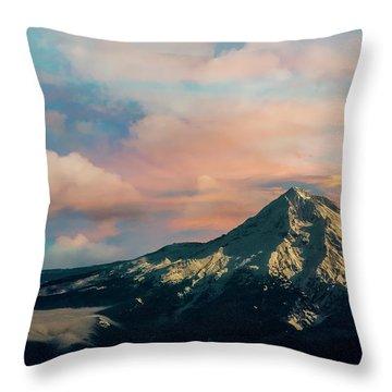 Mt Hood Throw Pillow