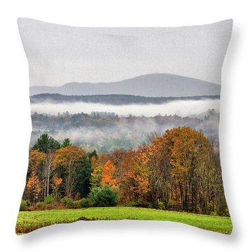 Throw Pillow featuring the photograph Mt. Kearsage Foggy View by Betty Pauwels