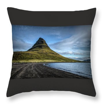 Mt Kirkjufell Throw Pillow
