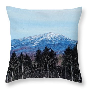 Mt. Monadnock Spring Snow Throw Pillow