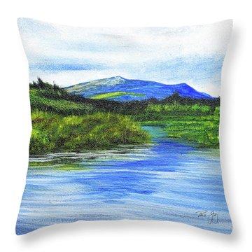 Mt. Monandnock From Scott Brook Throw Pillow