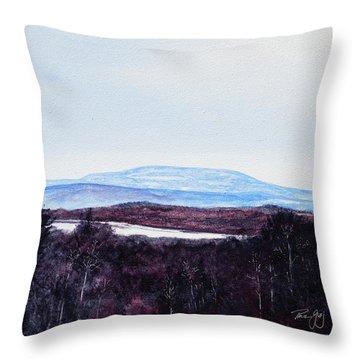 Mt. Wachusett Throw Pillow