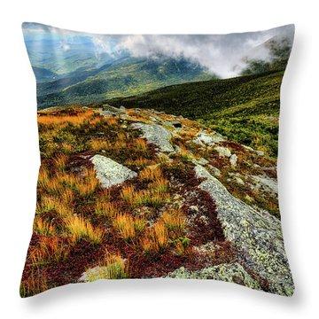 Mt. Washington Nh, Autumn Rays Throw Pillow