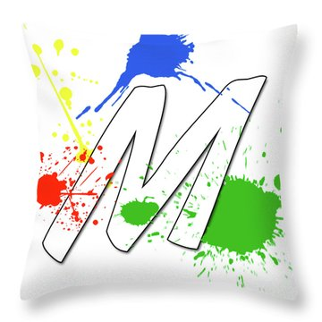 Throw Pillow featuring the digital art MTM by Meet the Masters