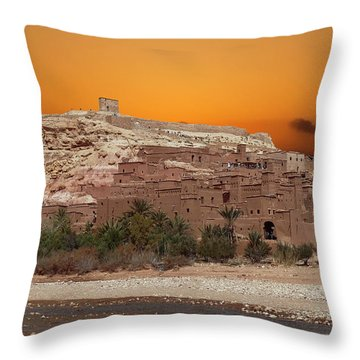 Mud Brick Buildings Of The Ait Ben Haddou Throw Pillow