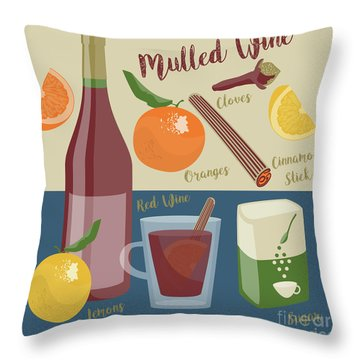 Mulled Wine Throw Pillow