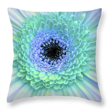 Multicolor Blues Throw Pillow