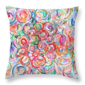 Multicolor Bubbles Throw Pillow