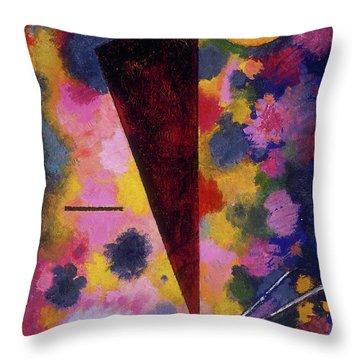 Multicolored Resonance Throw Pillow