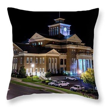 Municipal Center At Night - North Augusta Sc Throw Pillow