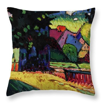 Murnau - Landscape With Green House  Throw Pillow