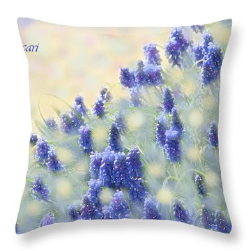 Muscari Morning Throw Pillow