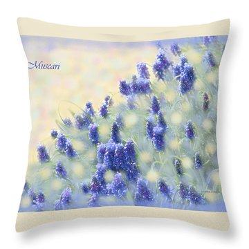Muscari Morning Throw Pillow