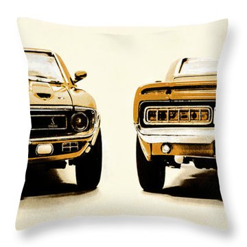 Muscle Machine Throw Pillow