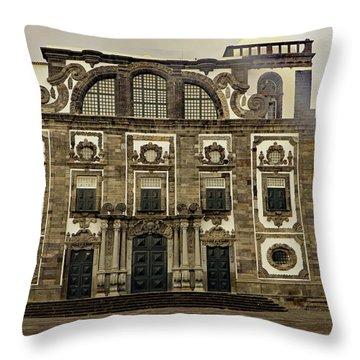 Throw Pillow featuring the photograph Museu Carlos Machado by Tony Murtagh