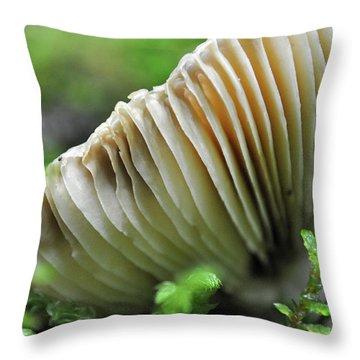 Mushroom Spaceship Throw Pillow