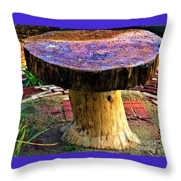 Mushroom Table Throw Pillow