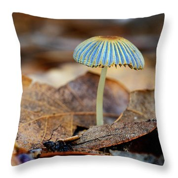 Mushroom Under The Oak Tree Throw Pillow
