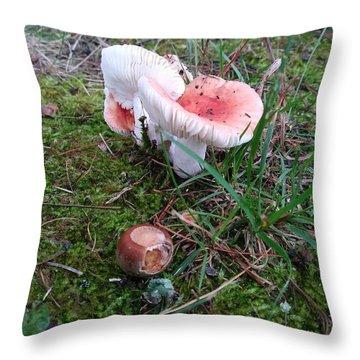Mushrooms And Moss 2  Throw Pillow