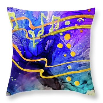 Music Playing Throw Pillow