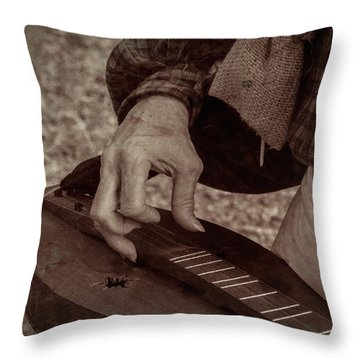 Throw Pillow featuring the photograph Musician 1349 by Guy Whiteley